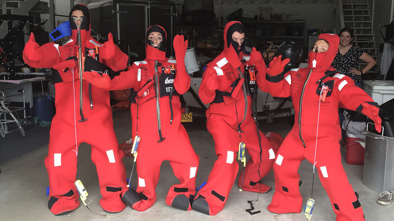 survival suit training