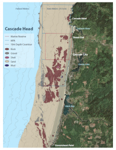 Seafloor habitat map of Cascade Head Marine Reserve