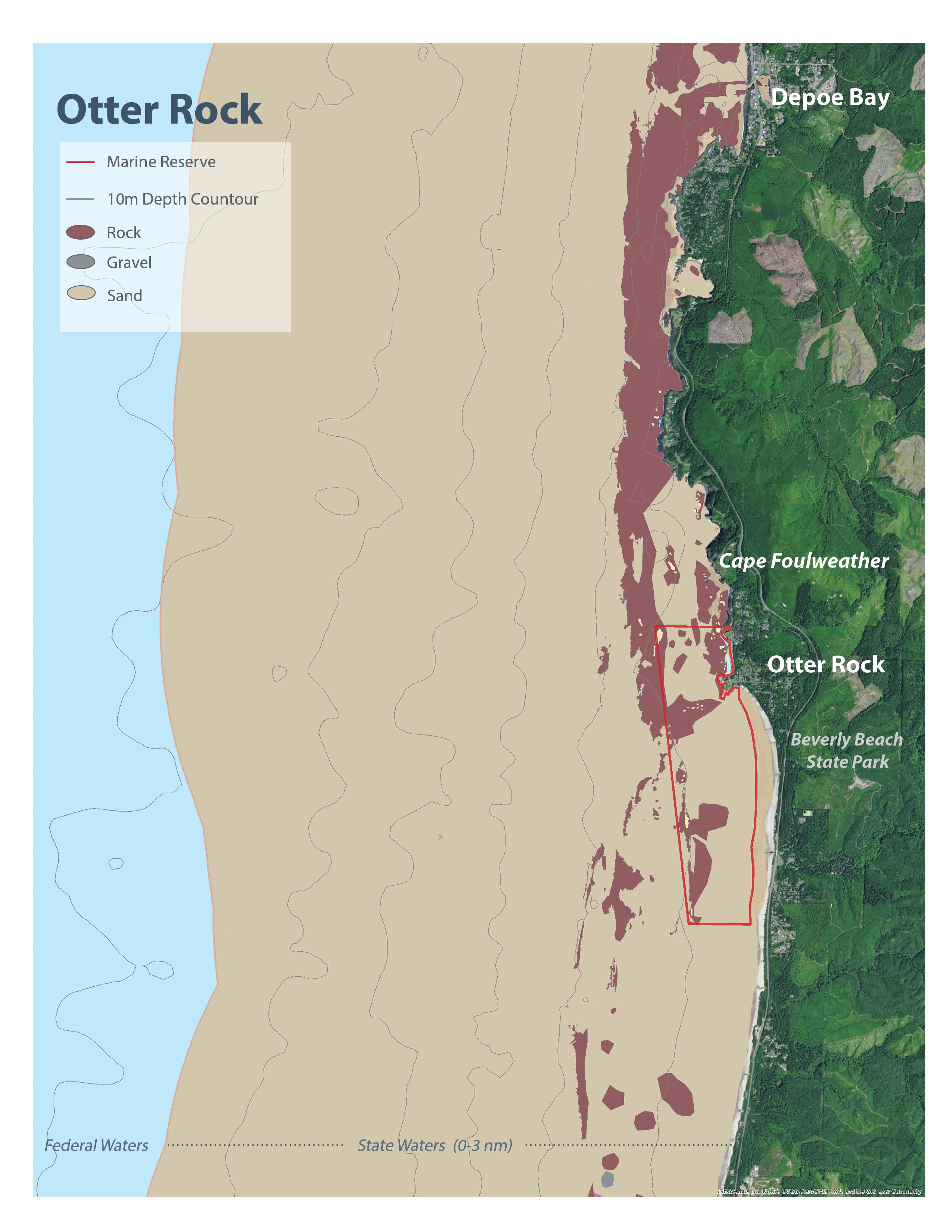 Otter rock oregon marine reserves seafloor habitat map for otter rock marine reserve nvjuhfo Gallery