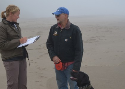 ODFW staff conducting visitor surveys