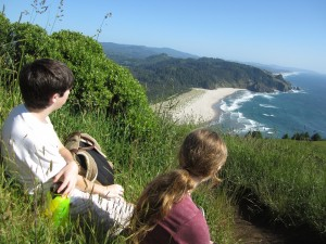 Viewpoint from hiking at Cascade Head