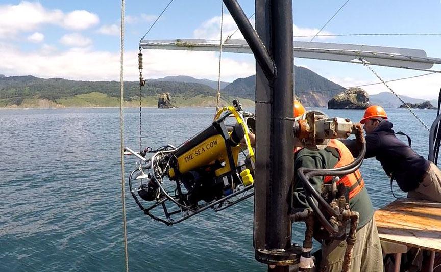 launching ROV