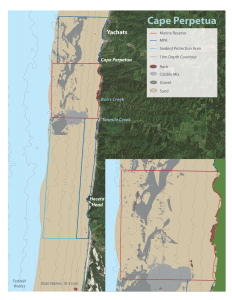 Seafloor habitat map for Cape Perpetua Marine Reserve