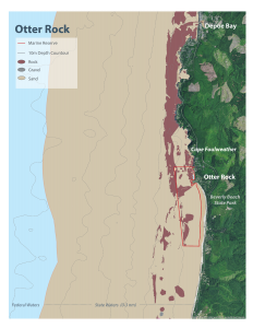 Seafloor habitat map for Otter Rock Marine Reserve