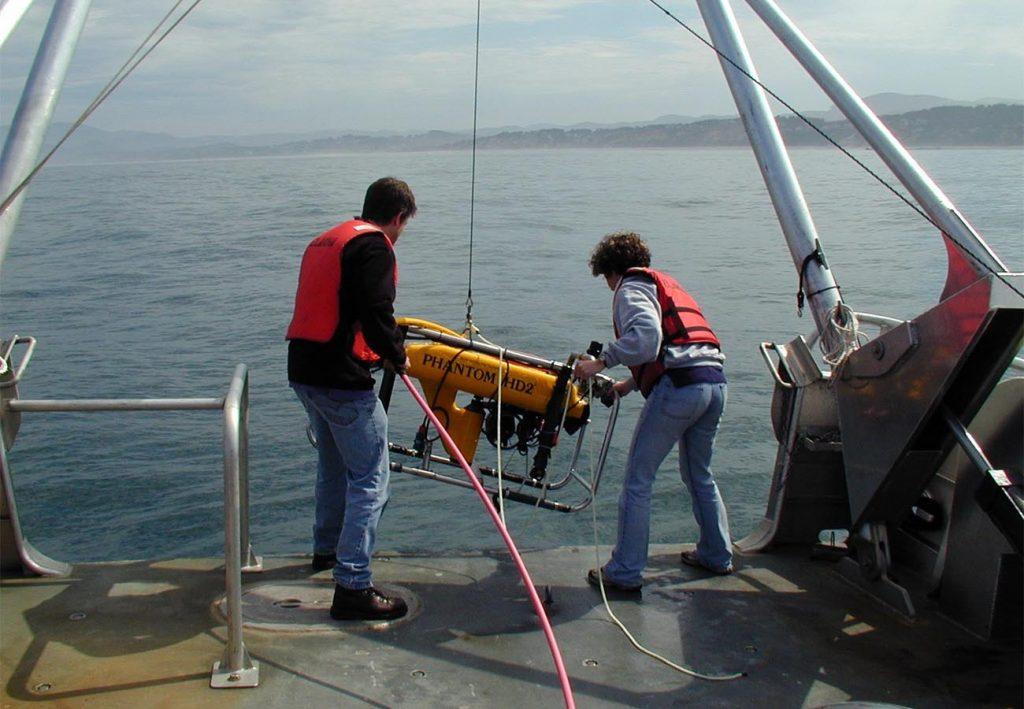 ROV launch 2002
