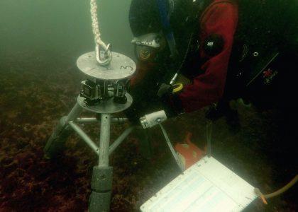 Video lander and SCUBA diver